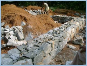 Rubble foundation construction work in kochi