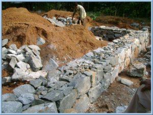 Rubble foundation construction work in kochi