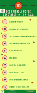 Tips for eco friendly house construction in Kerala