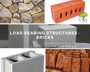 Bricks used in building construction of Load bearing structures in Kerala