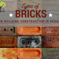 Types of bricks used in building construction in Kerala