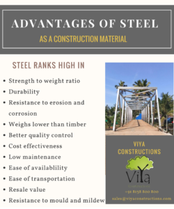Advantages of Steel as a construction material