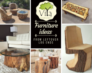 Furniture ideas from leftover log ends