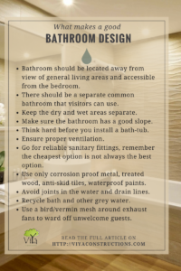 Tips for bathroom design