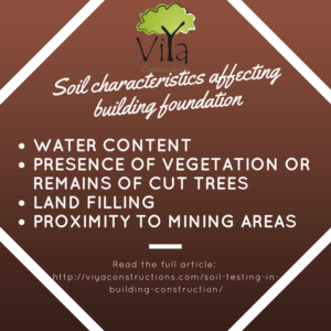 Impact of soil characteristics on building foundation