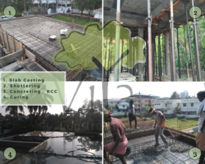 Stages of building construction - #4. Slab casting