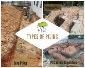 Types of Piling before foundation