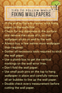 Tips to follow before fixing wallpapers