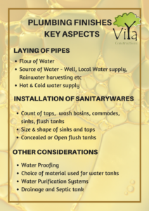 Plumbing Finishing in house construction - Key Aspects