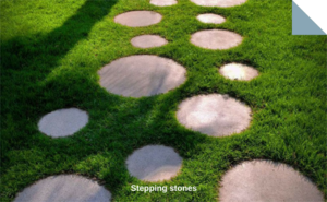 Paving stones for Stepping stones