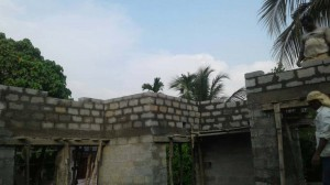Independent house at Thiruvankulam - Block work above lintel