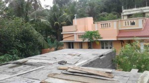 Independent house at Thiruvankulam - Concreting