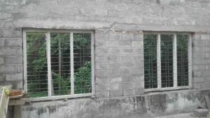 Independent house at Thiruvankulam - Window fixing