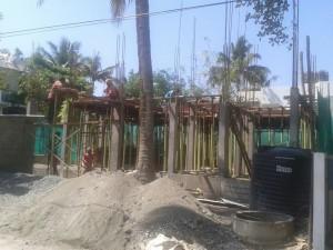 Slab work construction
