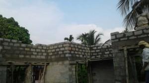Independent house at Thiruvankulam - Block work above lintel
